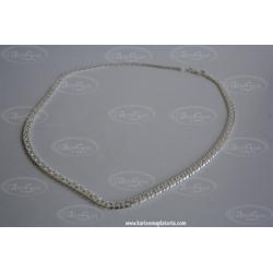 Gargantilla Plata lisa de ley 925 45cm