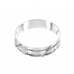 Anillo diamantada labrada mod.30583 en Plata de Ley 925