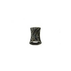 Colgante Esmaltado Rectangular 10 Negro Mod.21663-10-N