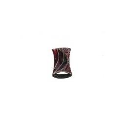 Colgante Esmaltado Rectangular 10 Rojo Mod.21663-10-R