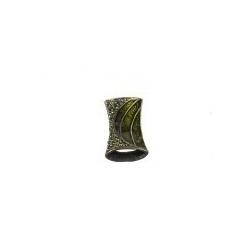 Colgante Esmaltado Rectangular 10 Verde Mod.21663-10-V