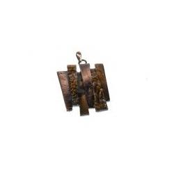 Colgante Esmaltado Trapecios Unidos 12 Marrón Mod.21663-12-M