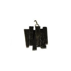 Colgante Esmaltado Trapecios Unidos 12 Negro Mod.21663-12-N