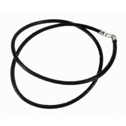 Cordón de Cuero color negro, terminación en Plata de Ley 925 Mod.39082 2