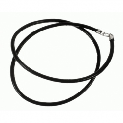 Cordón de Cuero color negro, terminación en Plata de Ley 925 Mod.39082 3