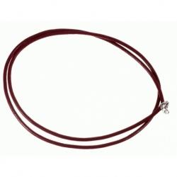 Cordón de Cuero color rojo, terminación en Plata de Ley 925 Mod.39084 2