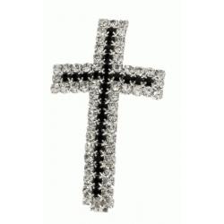 Colgante Zirconio Cruz Cristal y Negro Mod.21873 2