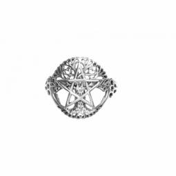 ANILLO PENTAGRAMA CON ARBOL DE LA VIDA MOD.30732 EN PLATA DE LEY 925