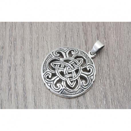Colgante Símbolo celta universo en plata oxidada MOD.50953 EN PLATA DE LEY 925