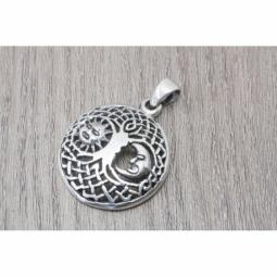 Colgante Árbol de la vida con Sol y Luna en plata oxidada MOD.50954 EN PLATA DE LEY 925