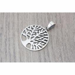 Colgante Árbol de la vida en plata oxidada MOD.50962 EN PLATA DE LEY 925